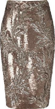 Nasia Short Sequin Skirt