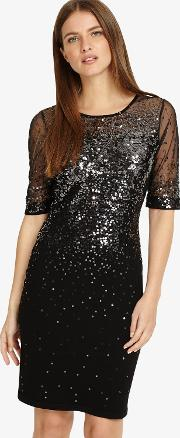 Orlena Ombre Sequin Knit Dress
