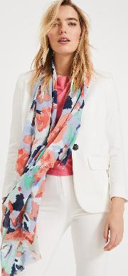 Renee Smudge Floral Scarf