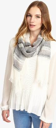 Stripe Cotton Scarf
