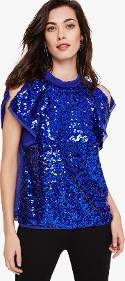 Tally Sequin Blouse