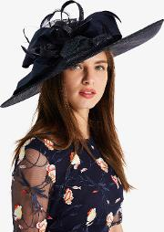 Trudy Large Disc With Bow Fascinator