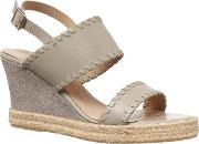 Whipstitch Leather Wedge
