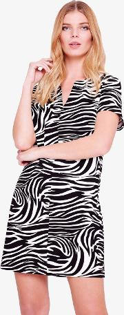 Zebra Print Tunic Dress