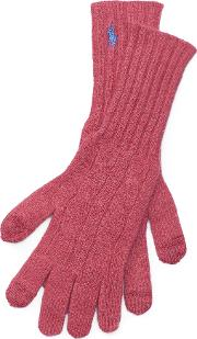 Cable Cashmere Blend Gloves