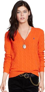 Cable V Neck Sweater