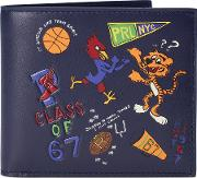 Cartoon Collage Leather Wallet