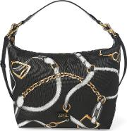 Equestrian Nylon Hobo Bag