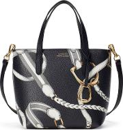 Faux Leather Crossbody Tote