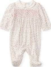 Floral Footed Coverall