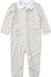 Floral Print Cotton Coverall