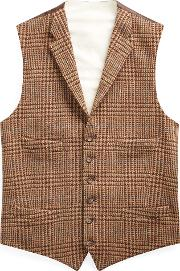 Glen Plaid Wool Tweed Vest