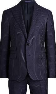 Gregory Striped Twill Suit