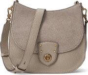 Leather Suede Crossbody Bag