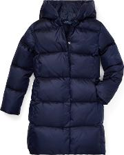 Long Hooded Down Jacket