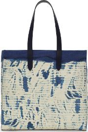 Painterly Striped Tote Bag