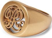 Plated Signet Ring