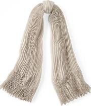 Pleated Cashmere Blend Scarf