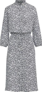 Print Crepe Shirtdress