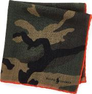 Print Wool Pocket Square