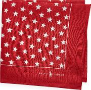 Star Print Linen Pocket Square