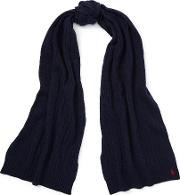 Wool Cashmere Oblong Scarf