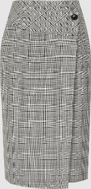 Alenna Wrap Front Tailored Skirt