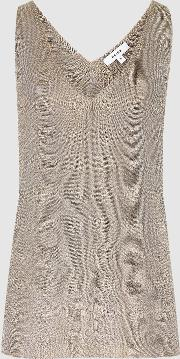 Alexis Metallic Knitted Top