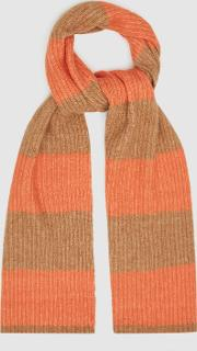 Alva Striped Knitted Scarf