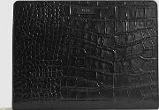 Archie Leather Embossed Croc Document Sleeve
