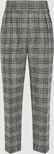 Arya Checked Pleat Front Trousers