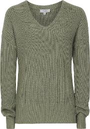 Audrey V Neck Ribbed Jumper
