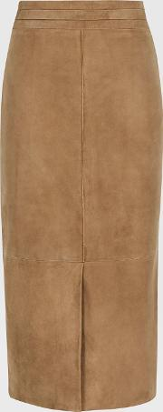Ava Suede Pencil Skirt