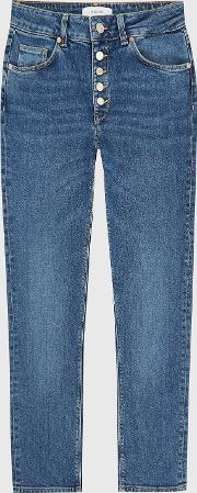 Bailey Mid Rise Slim Cut Jeans
