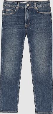Bailey Mid Rise Straight Jeans