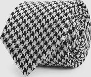 Blanca Silk Houndstooth Checked Tie