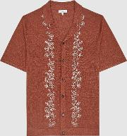 Boone Embroidered Cuban Collar Shirt