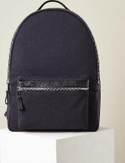 Bronnman Leather Trim Backpack