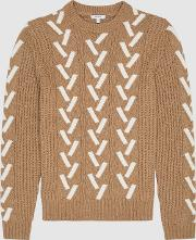 Bronson Colour Block Knit Jumper