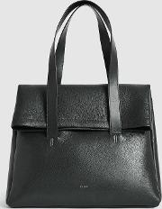 Carter Leather Fold Over Tote Bag