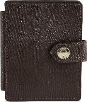Cashin Print Textured Leather Card Holder