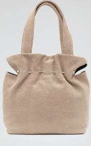 Cassius Womens Suede And Metal Tote In White
