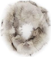 Chester Tipped Faux Fur Snood In  Womens