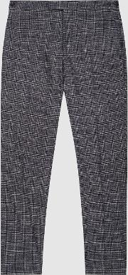 Cheval Checked Slim Fit Trousers