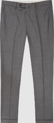Chiltern Wool Blend Slim Fit Trousers