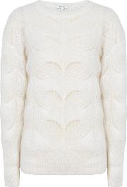 Dinah Mohair Blend Patterned Jumper