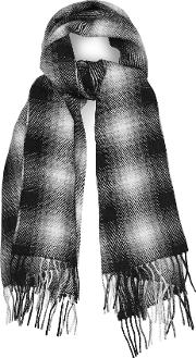 Drive Wool Blend Checked Scarf