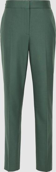 Eleanor Wool Blend Tapered Trousers