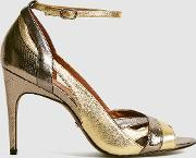 Florence Metallic Strappy High Heeled Sandals