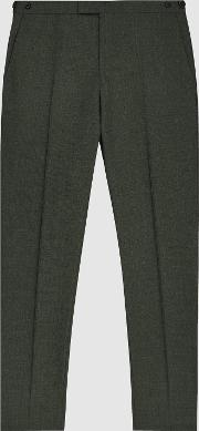 Foster Slim Fit Wool Trousers